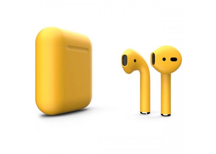 Apple AirPods 2 Color (без беспроводной зарядки чехла), матовый золотой цвет