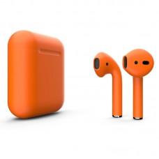 Apple AirPods 2 Color (без беспроводной зарядки чехла), матовый оранжевый цвет