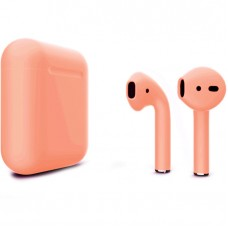 Apple AirPods 2 Color (без беспроводной зарядки чехла), матовый персиковый цвет
