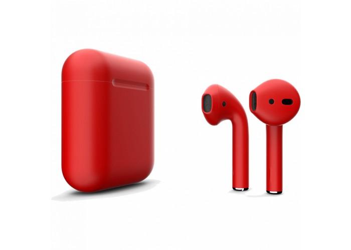 Apple AirPods 2 Color (без беспроводной зарядки чехла), матовый красный цвет