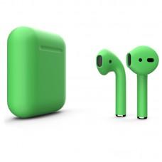 Apple AirPods 2 Color (без беспроводной зарядки чехла), матовый весенне-зелёный цвет