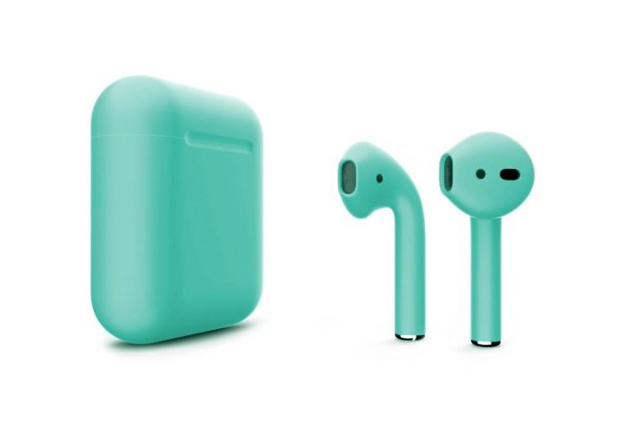 Apple AirPods 2 Color (беспроводная зарядка чехла), матовый бирюзовый цвет