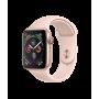 Apple Watch Series 4, 44 мм, корпус из алюминия золотого цвета, спортивный ремешок цвета «розовый песок»