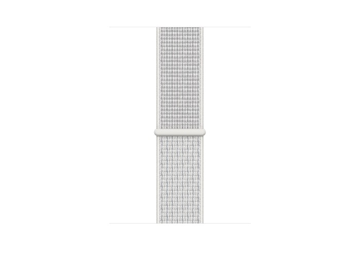 Apple Watch Nike+ Series 4, 40 мм, корпус из алюминия серебристого цвета, спортивный браслет Nike цвета «снежная вершина»