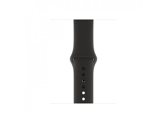Apple Watch Series 5, 40 мм, корпус из алюминия цвета «серый космос», спортивный ремешок чёрного цвета