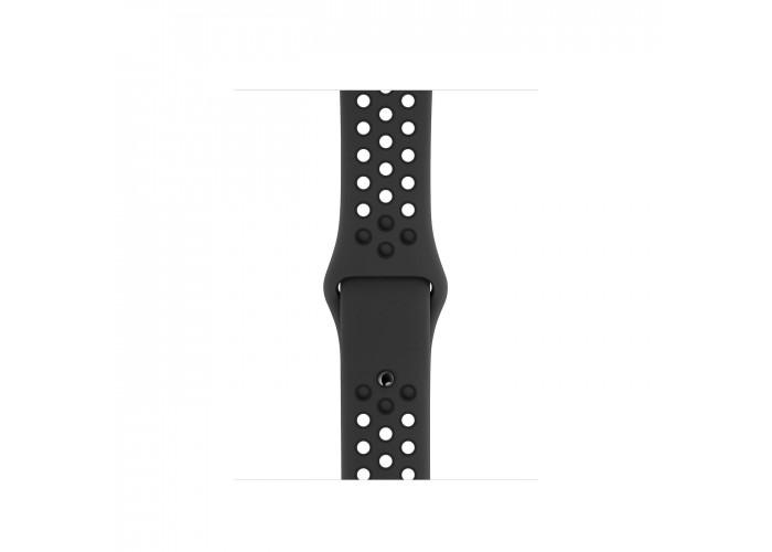 Apple Watch Nike Series 5, 40 мм, корпус из алюминия цвета «серый космос», спортивный ремешок Nike цвета «антрацитовый/чёрный»