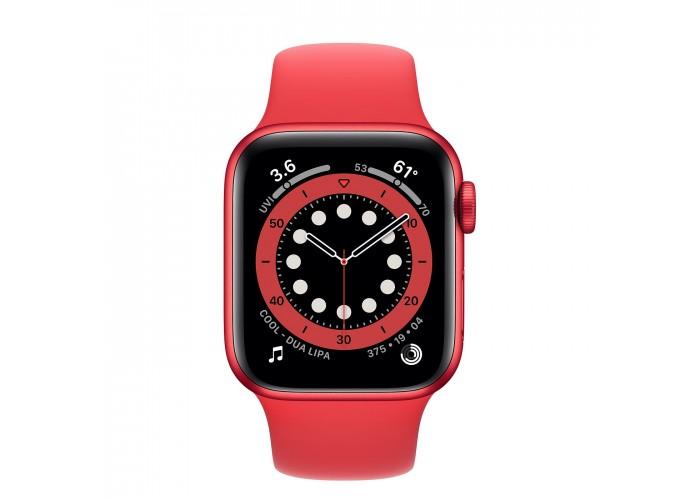 Apple Watch Series 6, 40 мм, корпус из алюминия цвета (PRODUCT)RED, спортивный ремешок