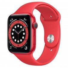 Apple Watch Series 6, 44 мм, корпус из алюминия цвета (PRODUCT)RED, спортивный ремешок