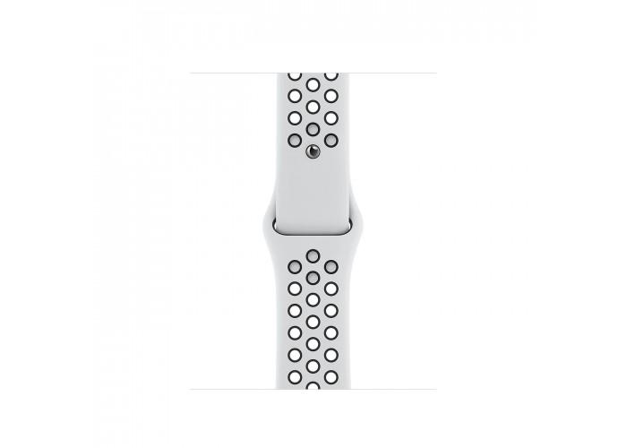 Apple Watch Nike Series 6, 40 мм, корпус из алюминия серебристого цвета, спортивный ремешок Nike
