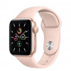 Apple Watch SE, 40 мм, корпус из алюминия золотого цвета, спортивный ремешок