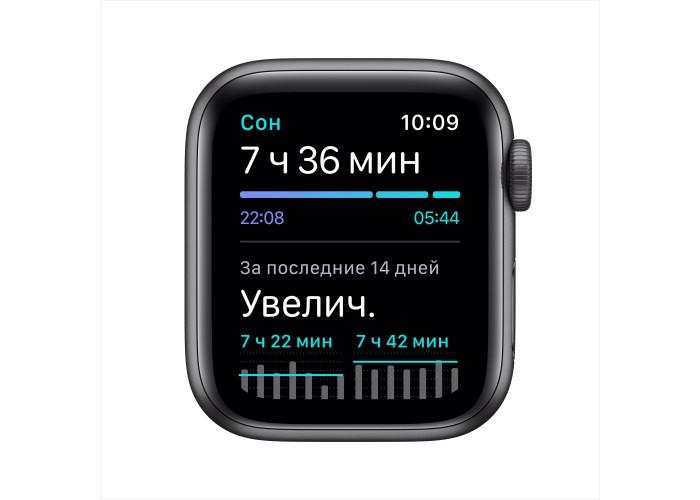 Apple Watch SE, 40 мм, корпус из алюминия цвета «серый космос», спортивный ремешок