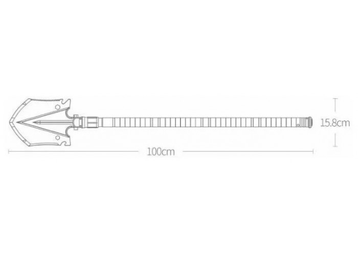 Лопата саперная Xiaomi Nextool Shovel 100 см