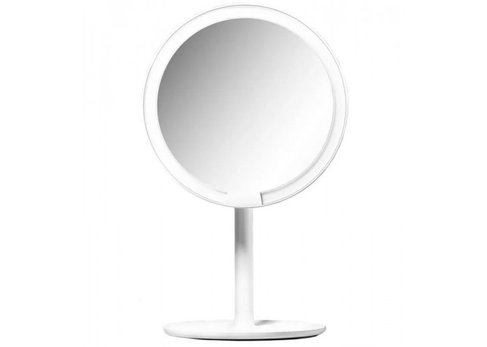 Зеркало косметическое настольное Xiaomi Amiro Lux High Color с подсветкой, белый