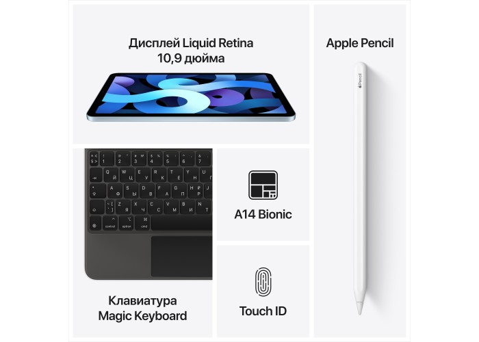 iPad Air (2020) Wi-Fi + Cellular 256 ГБ зелёный