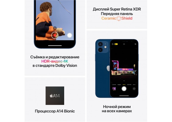 iPhone 12 mini 256 ГБ синий