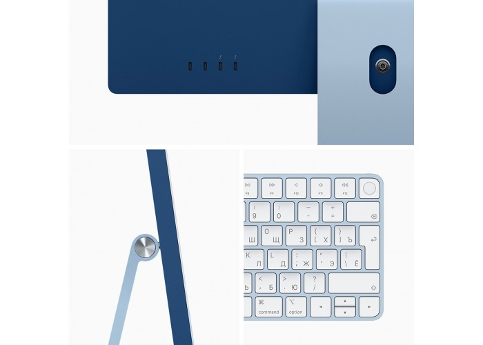 "iMac 24"" 2021, Retina 4.5K, M1, 8-core GPU, 8 ГБ, 256 ГБ SSD, синий"