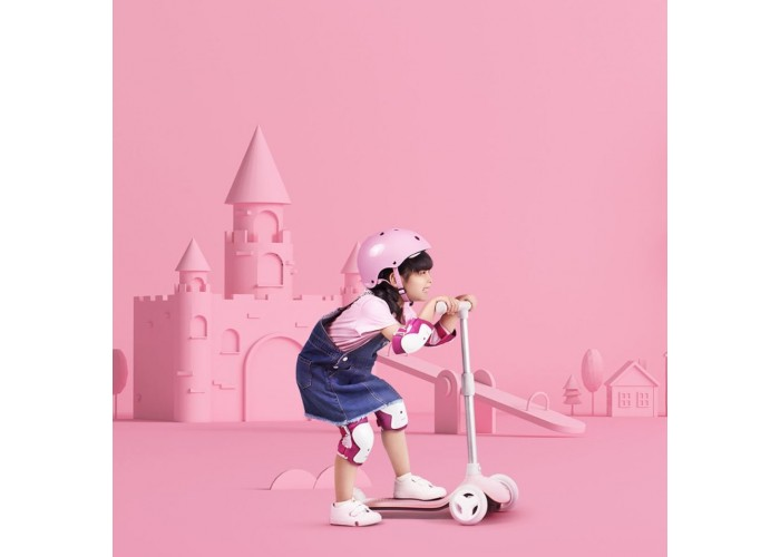 Детский кикборд Xiaomi Rice Rabbit Scooter розовый