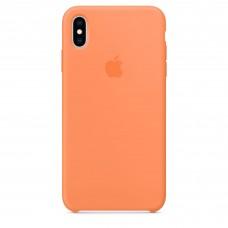 Чехол силиконовый Silicone Case для iPhone XS Max, цвет «свежая папайя»