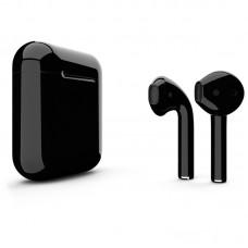 Apple AirPods 2 Color (без беспроводной зарядки чехла), глянцевый чёрный цвет