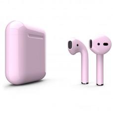 Apple AirPods 2 Color (без беспроводной зарядки чехла), глянцевый пастельно-розовый цвет