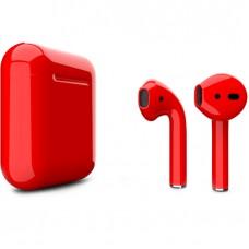Apple AirPods 2 Color (без беспроводной зарядки чехла), глянцевый красный цвет