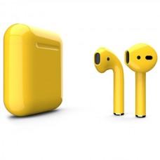 Apple AirPods 2 Color (без беспроводной зарядки чехла), глянцевый жёлтый цвет