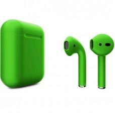 Apple AirPods 2 Color (без беспроводной зарядки чехла), матовый зелёный цвет