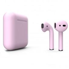 Apple AirPods 2 Color (без беспроводной зарядки чехла), матовый пастельно-розовый цвет