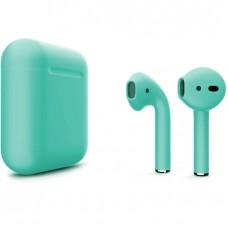 Apple AirPods 2 Color (без беспроводной зарядки чехла), матовый бирюзовый цвет