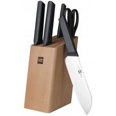 Набор Xiaomi Fire kitchen 4 ножа и ножницы с подставкой